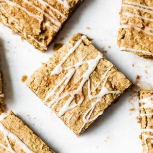 protein bars on parchment paper
