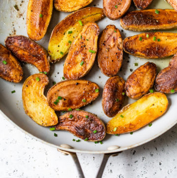 roasted potatoes in a skillet