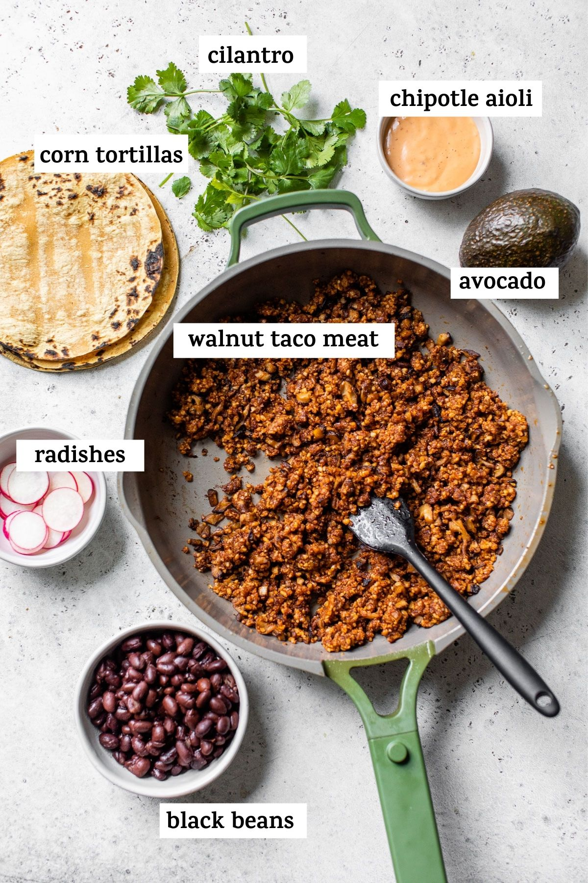 taco ingredients on a table