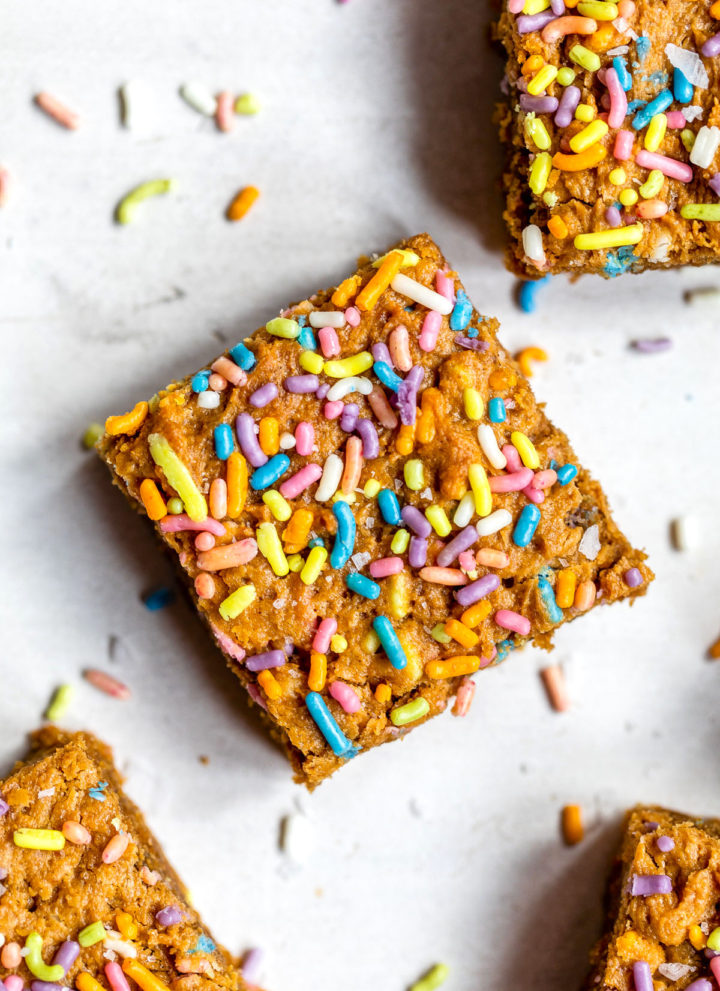 brownie with sprinkles on a table
