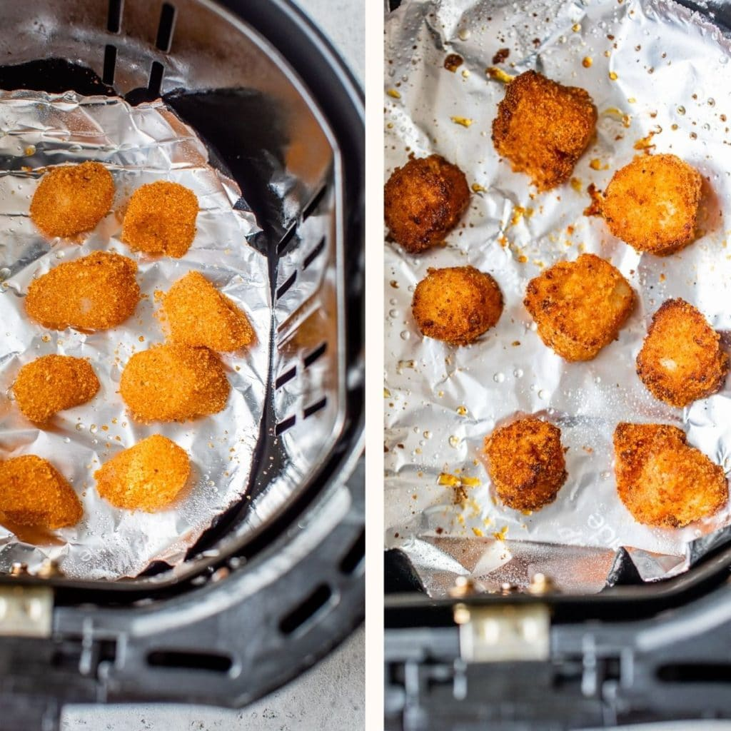 breaded scallops in an air fryer