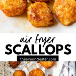 cooked breaded scallops on a plate