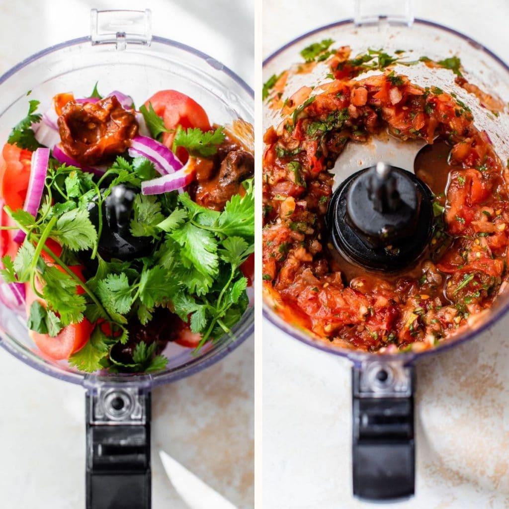 chipotle salsa in a food processor