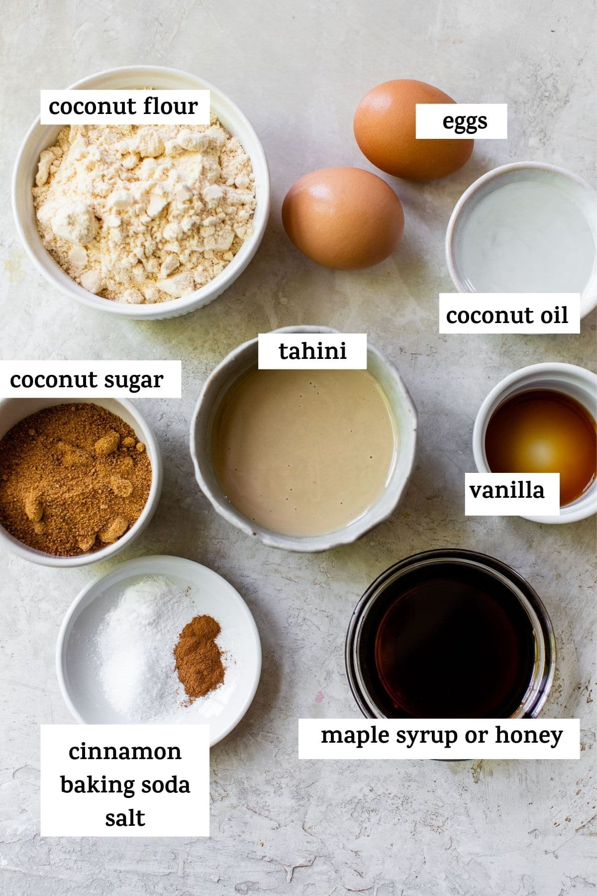 ingredients to make cookies with text overlay