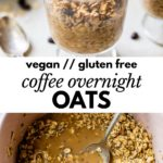 oats in a jar and in a pink bowl