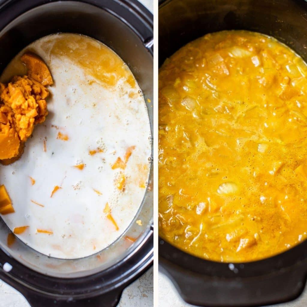 soup in a crockpot